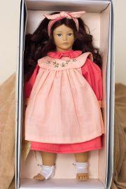 Brittanie - open edition vinyl soft body collectible doll  by doll artist Heidi Ott.