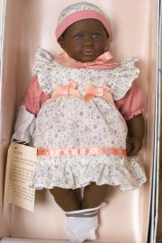 Baby Ruby - open edition vinyl soft body collectible doll  by doll artist Heidi Ott.