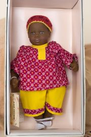 Baby Jeffrey - open edition vinyl soft body collectible doll  by doll artist Heidi Ott.