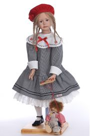 Annabell - limited edition vinyl soft body collectible doll  by doll artist Angelika Mannersdorfer.