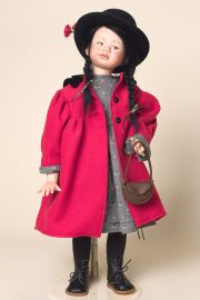 Kumiko - collectible limited edition porcelain soft body art doll by doll artist Angelika Mannersdorfer.