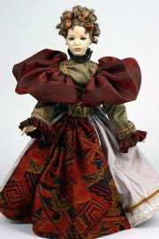 Larikke - collectible one of a kind finished porcelain art doll by doll artist Uta Brauser.