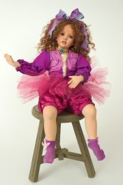 Brandy - collectible limited edition porcelain soft body art doll by doll artist Patricia Rose.
