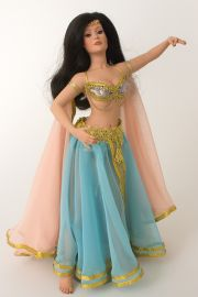 Adena - collectible limited edition porcelain art doll by doll artist Patricia Rose.