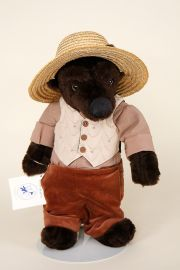 Br'er Bear - collectible limited edition plush bear or plush piece by artist Jerri McCloud.