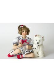 Madelaine and Harry - limited edition porcelain soft body collectible doll  by doll artist Pamela Phillips.