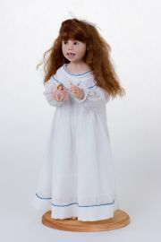 Cora's Fairy - collectible one of a kind polymer clay art doll by doll artist Julie Fischer.