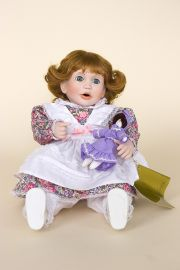 Rock-a-Bye Baby - limited edition porcelain soft body collectible doll  by doll artist Terri DeHetre.