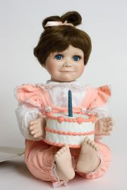 Patty Cake - limited edition porcelain soft body collectible doll  by doll artist Terri DeHetre.
