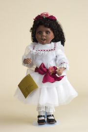 Angelique - limited edition porcelain soft body collectible doll  by doll artist Jan Galperin.