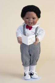 Michael - limited edition porcelain soft body collectible doll  by doll artist Jan Galperin.
