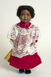 Grace - limited edition porcelain soft body collectible doll  by doll artist Jan Galperin.