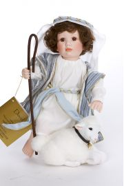 David - limited edition porcelain soft body collectible doll  by doll artist Marlene Sirko.