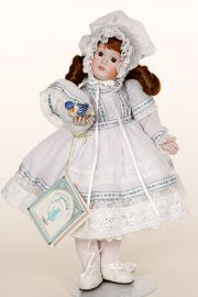 Pettina - limited edition porcelain collectible doll  by doll artist Gorham.