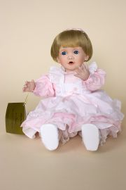 Michelle - limited edition porcelain soft body collectible doll  by doll artist Terri DeHetre.