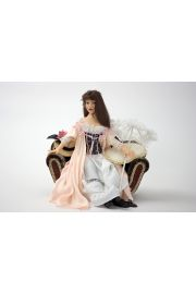 Asia - collectible one of a kind polymer clay art doll by doll artist Marlena Blanford.
