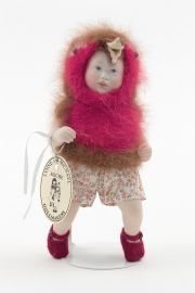 Robin Baby Amy no.44 - collectible limited edition porcelain soft body art doll by doll artist Lynne and Michael Roche.