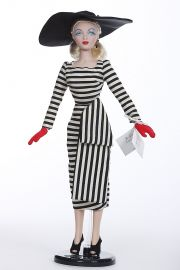 Gene Lucky Stripe 93529 - collectible limited edition vinyl hard fashion doll by doll artist Mel Odom.