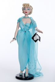 Gene Blue Goddess 93503 - collectible limited edition vinyl hard fashion doll by doll artist Mel Odom.