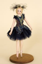 Ballerina no.2 - collectible one of a kind porcelain art doll by doll artist Andrea Robbins.