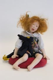 Ruth - collectible limited edition porcelain art doll by doll artist Sandi McAslan.