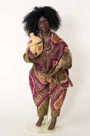 Ju-Ju - collectible limited edition porcelain soft body art doll by doll artist Julia Rueger.