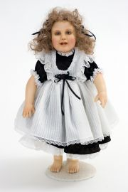 Ann - collectible limited edition mixed porc.-poly clay art doll by doll artist Pat Thompson.