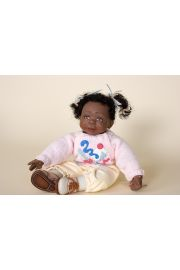 Jordan girl black light pink - collectible limited edition resin art doll by doll artist Joanne Gelin.
