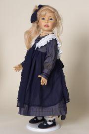 Savanya - limited edition vinyl soft body collectible doll  by doll artist Joke Grobben.