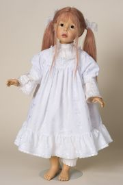 Roseanne - limited edition vinyl soft body collectible doll  by doll artist Joke Grobben.