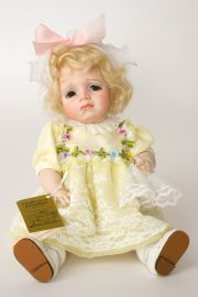 Lucy Locket - collectible limited edition porcelain art doll by doll artist Susan Dunham.