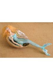 Mermaid in Shell M21 - collectible one of a kind porcelain art doll by doll artist Susan Snodgrass.