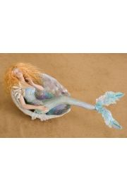 Mermaid in Shell M20 - collectible one of a kind porcelain art doll by doll artist Susan Snodgrass.