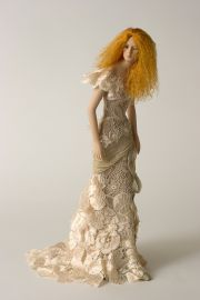 Lace Lady - collectible one of a kind porcelain art doll by doll artist Susan Snodgrass.