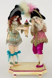 Surprise - collectible one of a kind polymer clay art doll by doll artist Nicole West.