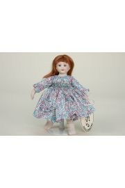 Minet Cherie - collectible limited edition porcelain soft body miniature doll by doll artist Lynne and Michael Roche.
