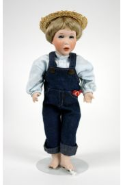 Tom Sawyer - limited edition porcelain and wood collectible doll  by doll artist Wendy Lawton.