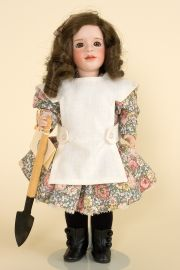Mary Frances - limited edition porcelain and wood collectible doll  by doll artist Wendy Lawton.