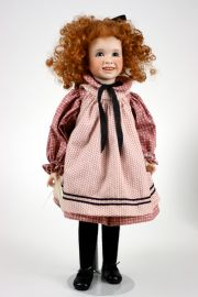 At Auntie's House - limited edition porcelain and wood collectible doll  by doll artist Wendy Lawton.