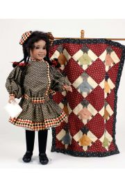 Zudie's Coverlet - limited edition porcelain collectible doll  by doll artist Wendy Lawton.