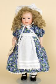 Violet - limited edition porcelain collectible doll  by doll artist Wendy Lawton.