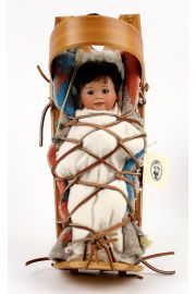 Cradleboard Navajo - limited edition porcelain collectible doll  by doll artist Wendy Lawton.