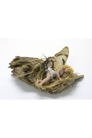 Fairy Girl in Nest - collectible one of a kind porcelain art doll by doll artist Michelle Robison.