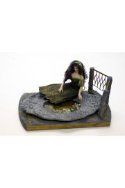 Lady at Pool - collectible one of a kind mixed art doll by doll artist Michelle Robison.