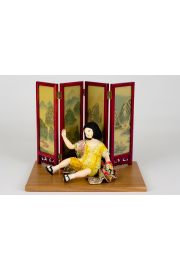 Sachiko - collectible limited edition mixed art doll by doll artist Jacques Dorier.