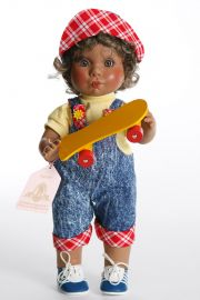 Little Angel Town Boy - limited edition vinyl collectible doll  by doll artist Lee Middleton.