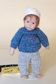 Mees - limited edition vinyl soft body collectible doll  by doll artist Nicole Marschollek.