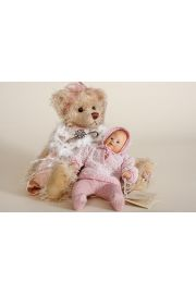 Anja - collectible limited edition porcelain soft body art doll by doll artist Wiltrud Stein.