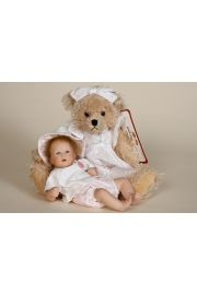 Mil - collectible limited edition porcelain soft body art doll by doll artist Wiltrud Stein.