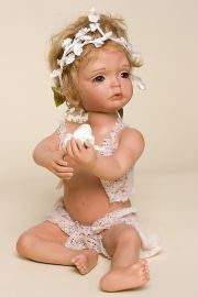 Pia - collectible limited edition porcelain art doll by doll artist Susan Lippl.
